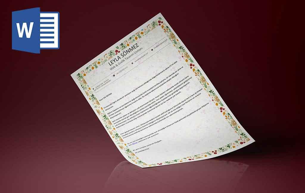 0102061101-Bayanlar için mükemmel önyazı tasarımı
