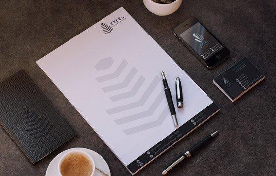 Koyu kurumsal kimlik tasarımı - Karma Sunum 02