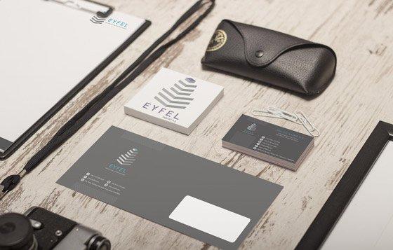 Koyu kurumsal kimlik tasarımı - Karma Sunum 01