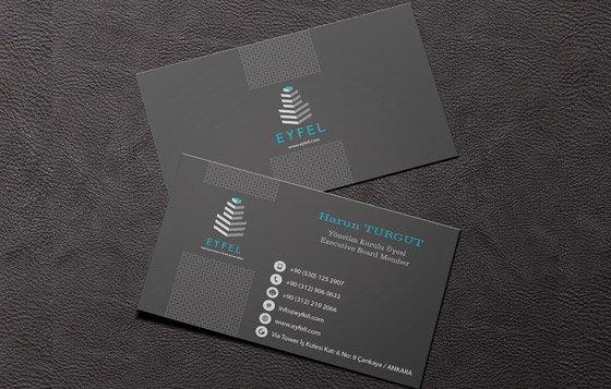 Koyu kurumsal kimlik kartvizit tasarımı