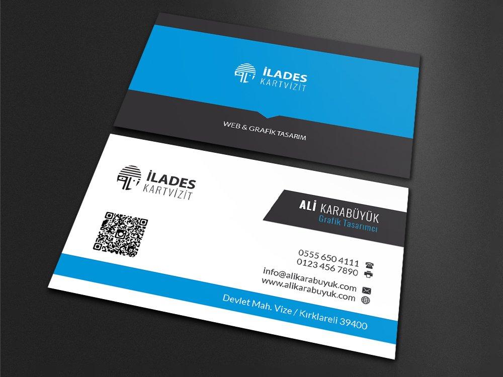 001 Mavi Kartvizit Tasarımı