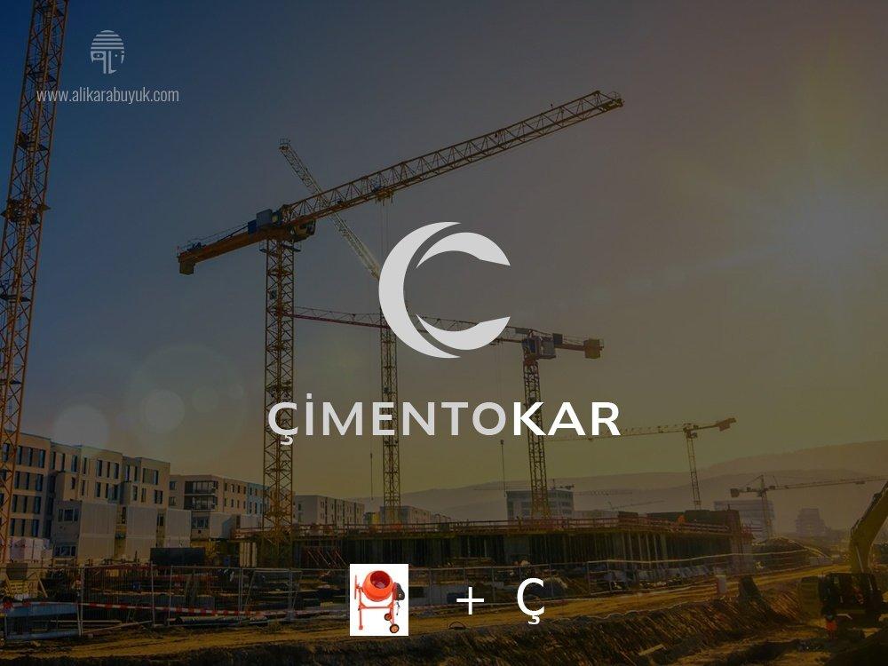 Çimento Makinesi Logo Tasarımı
