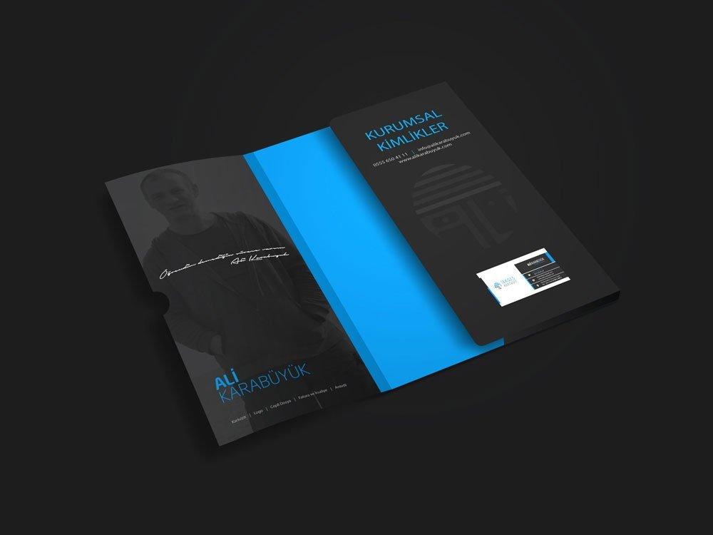Cepli dosya ve kartvizit tasarımı