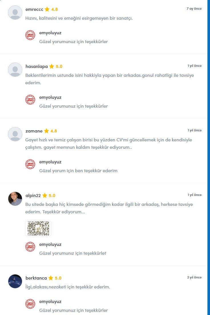Müşteri Yorumları