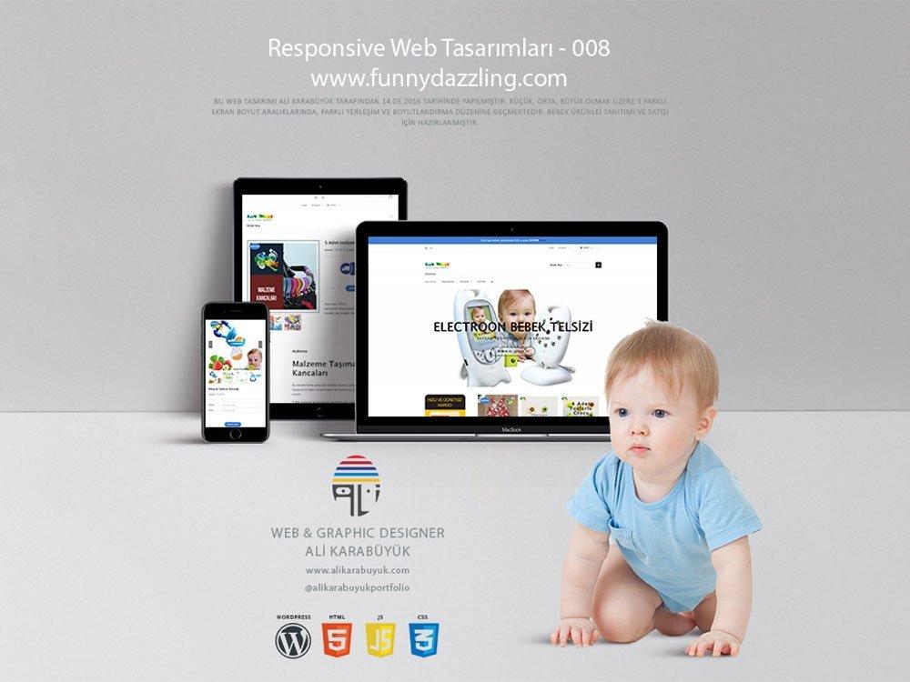 Bebek Ürünleri Web Tasarımı