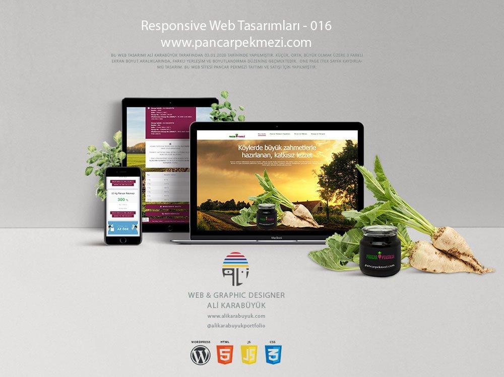 Tek sayfa web tasarımı